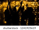young people are dancing.... | Shutterstock . vector #1241925619