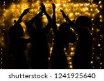 young people are dancing.... | Shutterstock . vector #1241925640