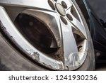 old rusted aluminium car disc | Shutterstock . vector #1241930236