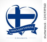 love finland emblem with heart... | Shutterstock .eps vector #1241939560
