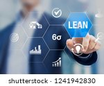 lean manufacturing and six... | Shutterstock . vector #1241942830