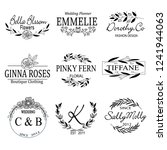 collection of hand drawn logo | Shutterstock .eps vector #1241944063