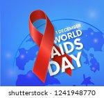 world aids day. 1st december.... | Shutterstock .eps vector #1241948770