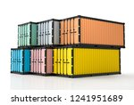 container mockup with clipping... | Shutterstock . vector #1241951689