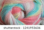 Close Up Colorful Yarn Texture...