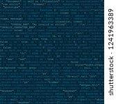 programming code. gyberspace... | Shutterstock .eps vector #1241963389