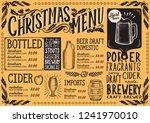 christmas menu template for... | Shutterstock .eps vector #1241970010