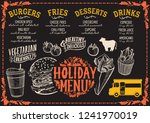 christmas menu template for... | Shutterstock .eps vector #1241970019