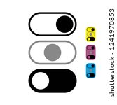 on off switcher vector icon on...