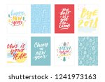 greetings hand lettering... | Shutterstock .eps vector #1241973163