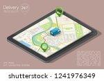 city map navigation route ... | Shutterstock .eps vector #1241976349