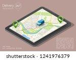 city map navigation route ... | Shutterstock .eps vector #1241976379