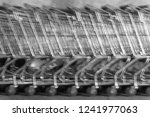 used shopping carts or used... | Shutterstock . vector #1241977063