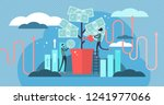 investing vector illustration.... | Shutterstock .eps vector #1241977066