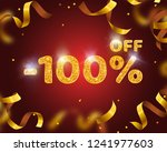 banner 100 off with share... | Shutterstock .eps vector #1241977603