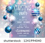 christmas party design template.... | Shutterstock .eps vector #1241994040