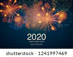 the year 2020 displayed with... | Shutterstock .eps vector #1241997469