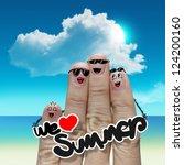 finger family travels at the... | Shutterstock . vector #124200160