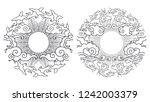 two design elements in oriental ... | Shutterstock .eps vector #1242003379