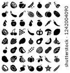 set of solid fruits and...   Shutterstock .eps vector #1242004090