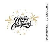 merry christmas. christmas...   Shutterstock .eps vector #1242006253