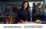 portrait of professional... | Shutterstock . vector #1242007600