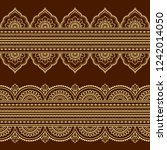 set of seamless borders for... | Shutterstock .eps vector #1242014050