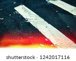 road markings on asphalt on the ... | Shutterstock . vector #1242017116