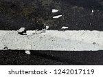 road markings on asphalt on the ... | Shutterstock . vector #1242017119