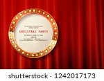 2019 new year greeting card.... | Shutterstock .eps vector #1242017173