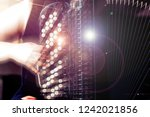 close up musician playing the... | Shutterstock . vector #1242021856