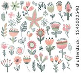 vector collection of fancy... | Shutterstock .eps vector #1242022540
