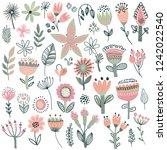 vector collection of fancy... | Shutterstock .eps vector #1242022540