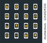 phone icon set | Shutterstock .eps vector #1242029233