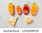 colorful sweet mini peppers in... | Shutterstock . vector #1242038920