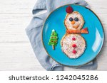 pancakes in the shape of... | Shutterstock . vector #1242045286