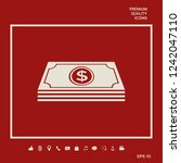 money banknotes stack with... | Shutterstock .eps vector #1242047110