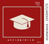 master cap for graduates ...   Shutterstock .eps vector #1242047173