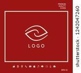 logotype   two hemispheres of... | Shutterstock .eps vector #1242047260