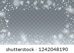 winter snowfall background.... | Shutterstock .eps vector #1242048190