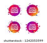 cookbook icons. 10  15  20 and... | Shutterstock .eps vector #1242053599