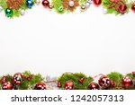 top view of christmas... | Shutterstock . vector #1242057313