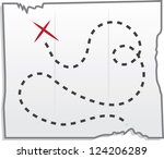 isolated treasure map with x... | Shutterstock .eps vector #124206289