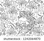 vector  seamless pattern ... | Shutterstock .eps vector #1242064870