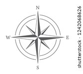 compass on white background | Shutterstock .eps vector #1242068626