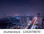 scenic of night cityscape light ... | Shutterstock . vector #1242078070