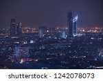 scenic of night cityscape with... | Shutterstock . vector #1242078073