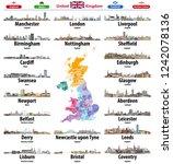 united kingdom cities skylines...   Shutterstock .eps vector #1242078136
