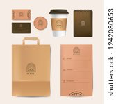 corporate identity template set | Shutterstock .eps vector #1242080653