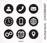 contact us icons. simple flat ... | Shutterstock .eps vector #1242088489